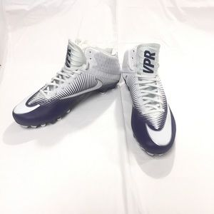 NIKE Men's Purple Vapor Speed Football Cleats 12.5